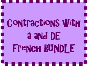 Contractions with À and DE French Bundle