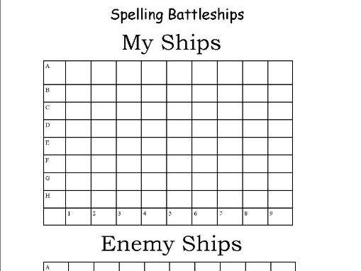 Spelling Battleships Grid by christina123 - Teaching ...