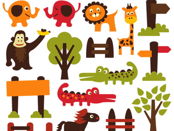 zoo animals clip art graphics by revidevi teaching resources tes rh tes com zoo clipart image zoo clipart free