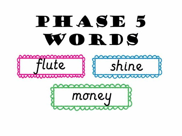 Phase 5 Word Cards