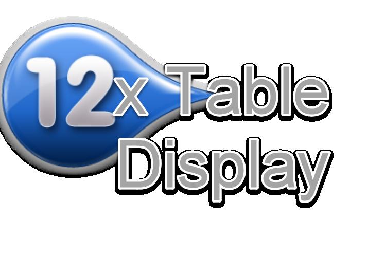 12 Times Table Display