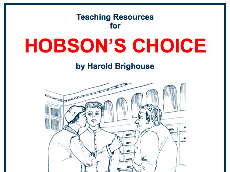 KS4 Hobson's Choice Scheme of Work