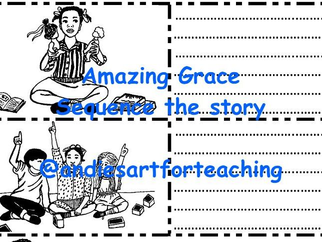 Amazing Grace Writing Activity Sequence Retell Black Lives Diversity