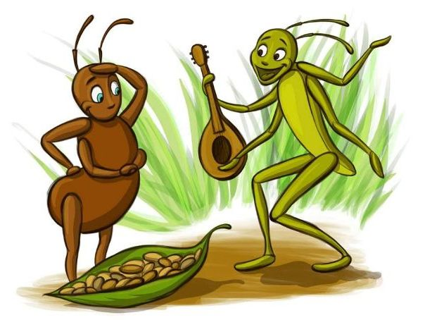 The Ant and the Grasshopper script example and story example