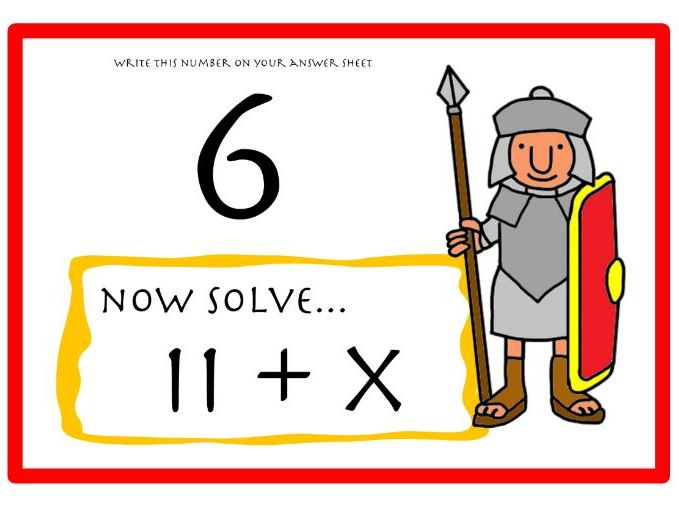 Roman Numeral Maths Treasure Hunt