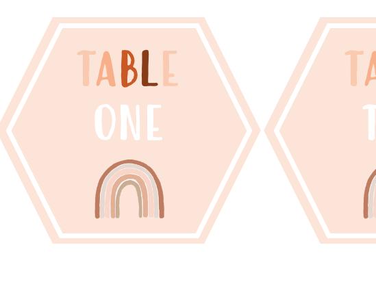 Neutral rainbow table numbers