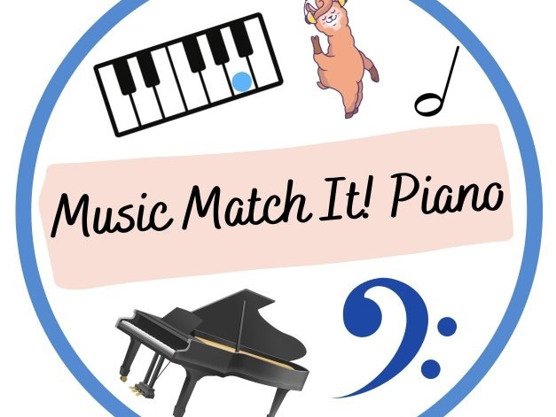 Music Match It! Piano Beginners, learn piano game