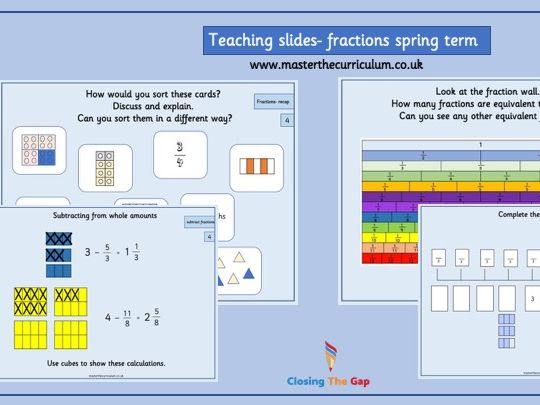 Year 4 - Spring term - Fractions- white rose style