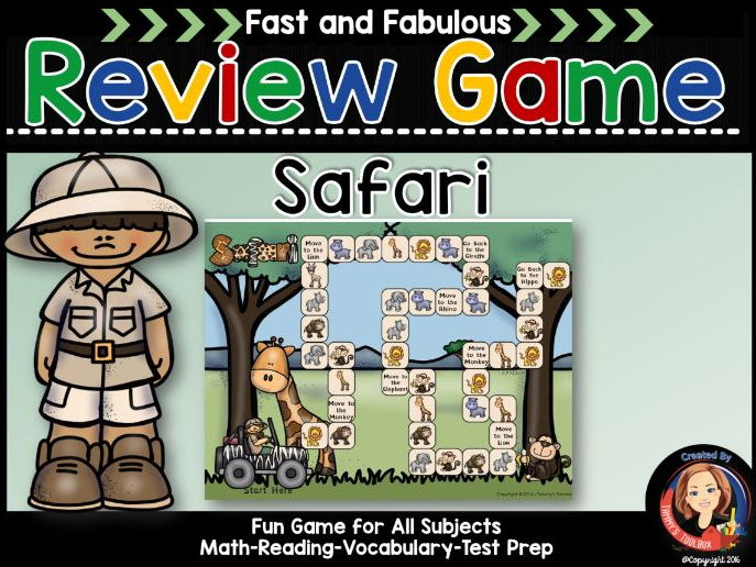 Safari Theme Fact Review Game for Any Subject