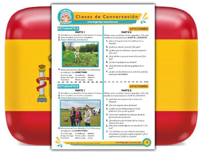 Aficiones - Spanish Speaking Activity