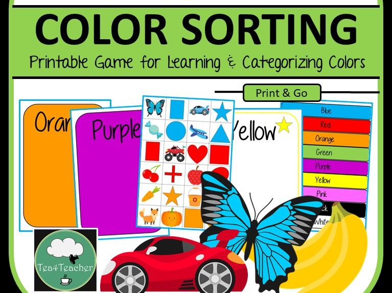 Colour Sorting Game - Sort Objects, Shapes & Colours