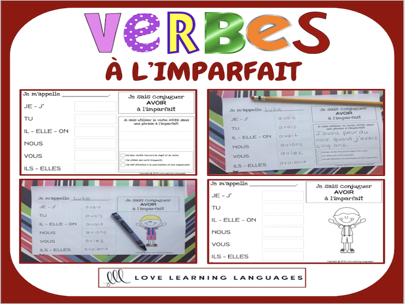 Verbes à l'imparfait - 60 verbes français à conjuguer - PRIMAIRE