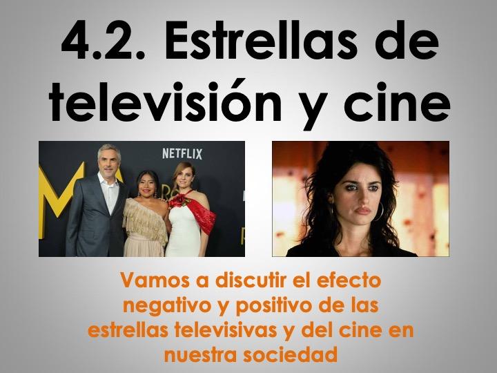 UPDATED AS/A Level Spanish La influencia de los ídolos: Las estrellas de la tv y del cine