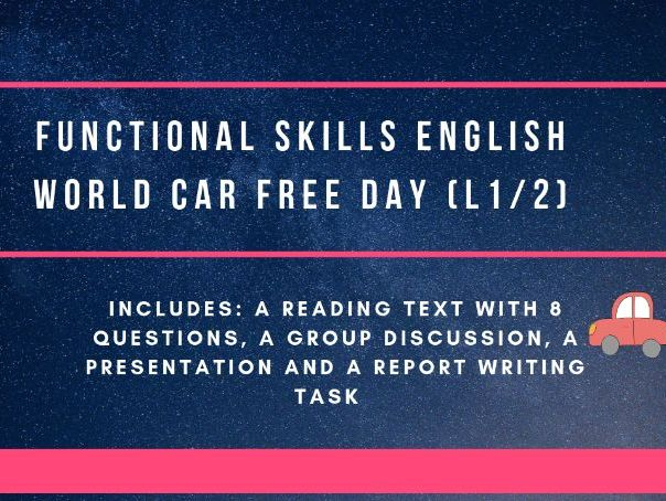 Functional Skills  reading and report writing