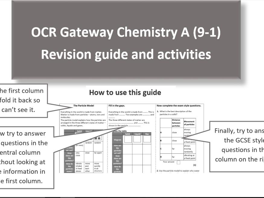 OCR GCSE Gateway Chemistry C1 Revision Pack
