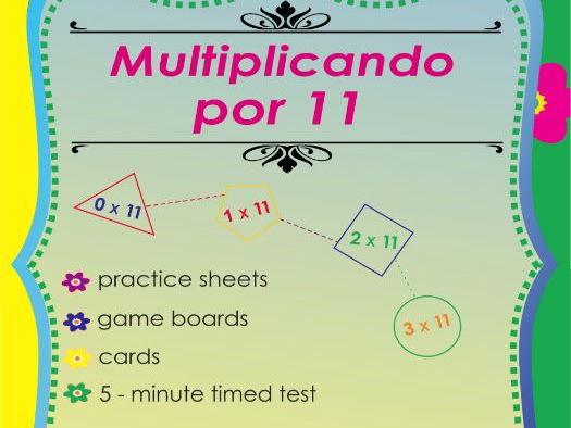 Multiplicando Por 11 - Spanish Multiplication Math Games and Lesson Plans