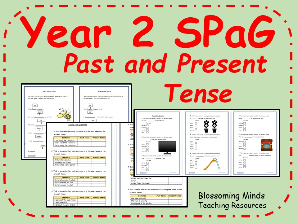 Printable Worksheets past tense worksheets ks2 : KS1 SPaG revision - past and present tense by blossomingminds ...