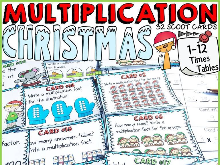 CHRISTMAS ACTIVITY: CHRISTMAS MULTIPLICATION SCOOT