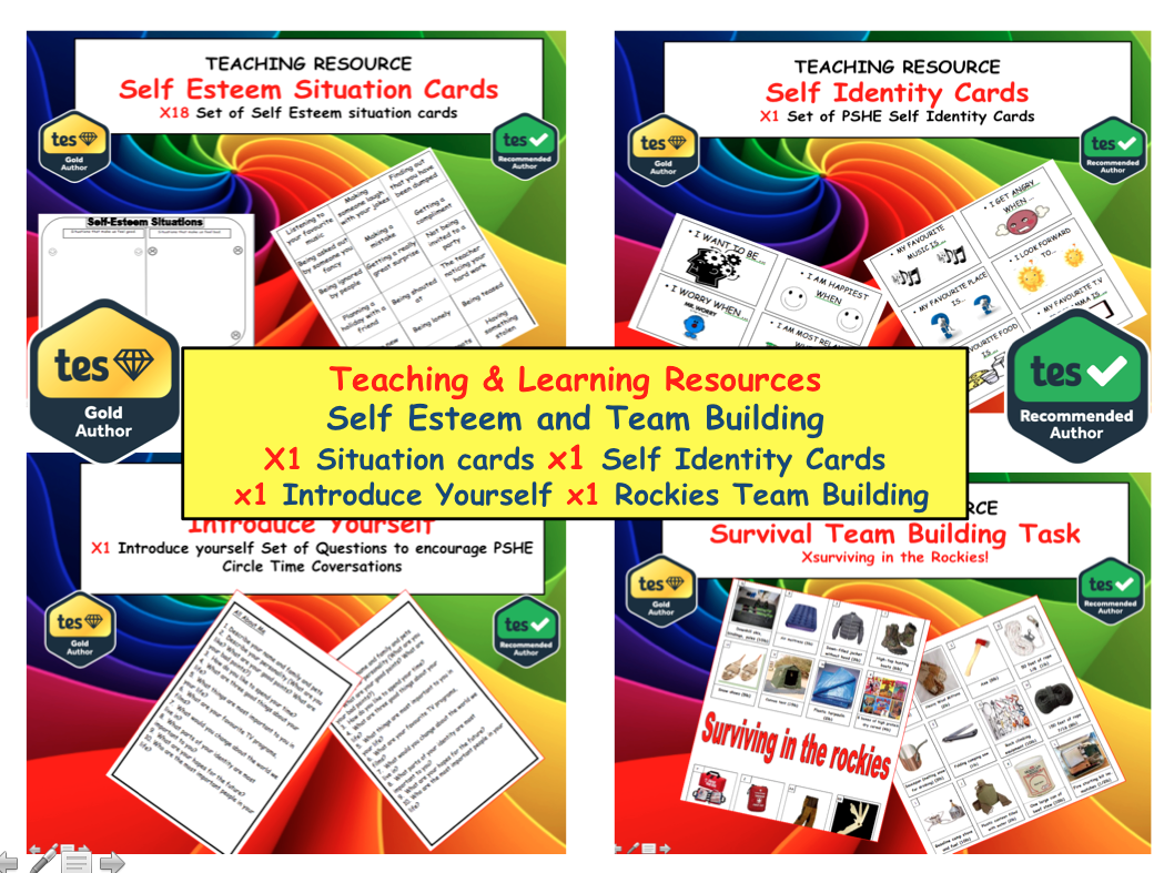Teaching self esteem Resources and Activities.  PSHE SEAL Citizenship