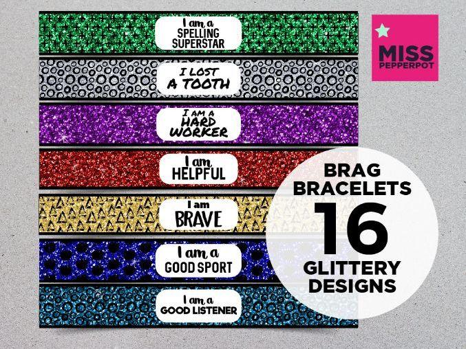 Brag Bracelets, Wrist Bands, Positive Reinforcement, Brag Tags