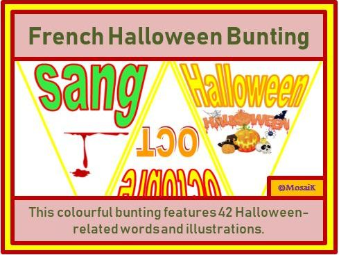 French : 42 Flags for Halloween Bunting