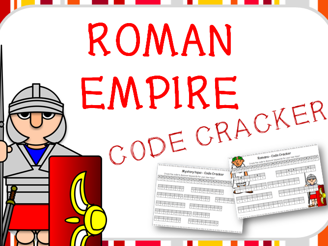 Roman Empire Code Cracker for topic vocabulary