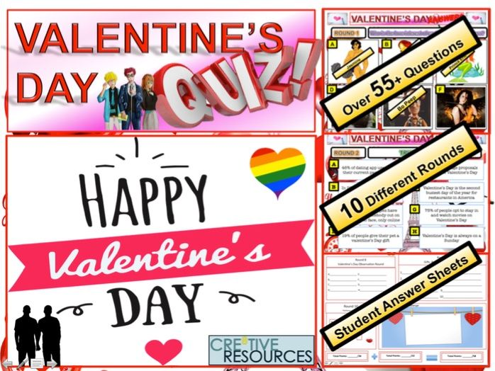 Valentines Day Quiz 2019 by thecre8tiveresources - Teaching Resources - Tes