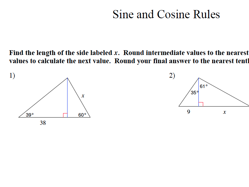 GCSE Maths Revision Sine and Cosine Rule