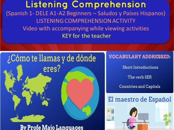 OCR-GCSE Spanish level A1- ¿De dónde eres?
