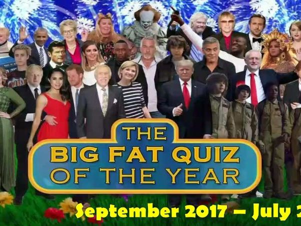 Big Fat Quiz of the Year 2018