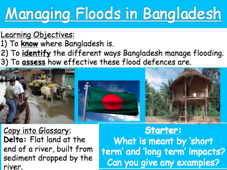Lesson 6: Managing Floods in Bangladesh