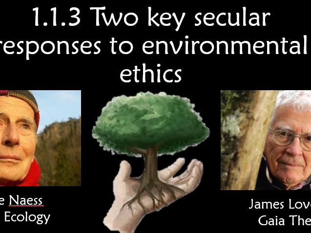 Religions Studies AS - Environmental Ethics - secular response