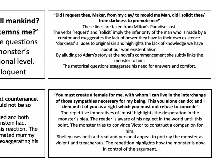 English literature flashcards for AQA