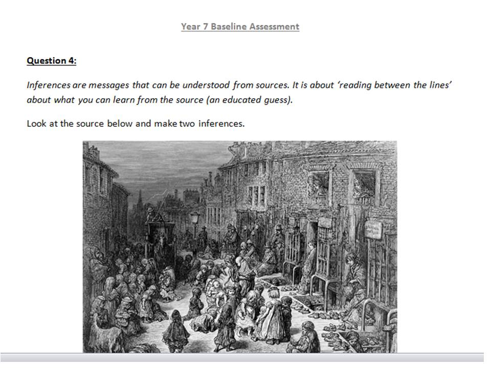 History Baseline assessments (two assessments)