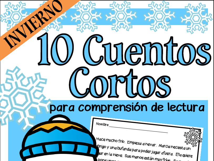 Spanish Reading Comprehension- WINTER EDITION- Comprensión de Lectura en Español