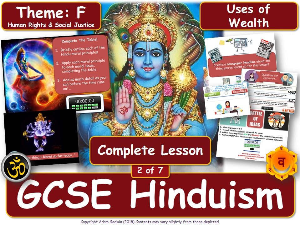 Uses of Wealth - Hindu Views & Teachings (GCSE RS - Hinduism- Social Justice) L2/7