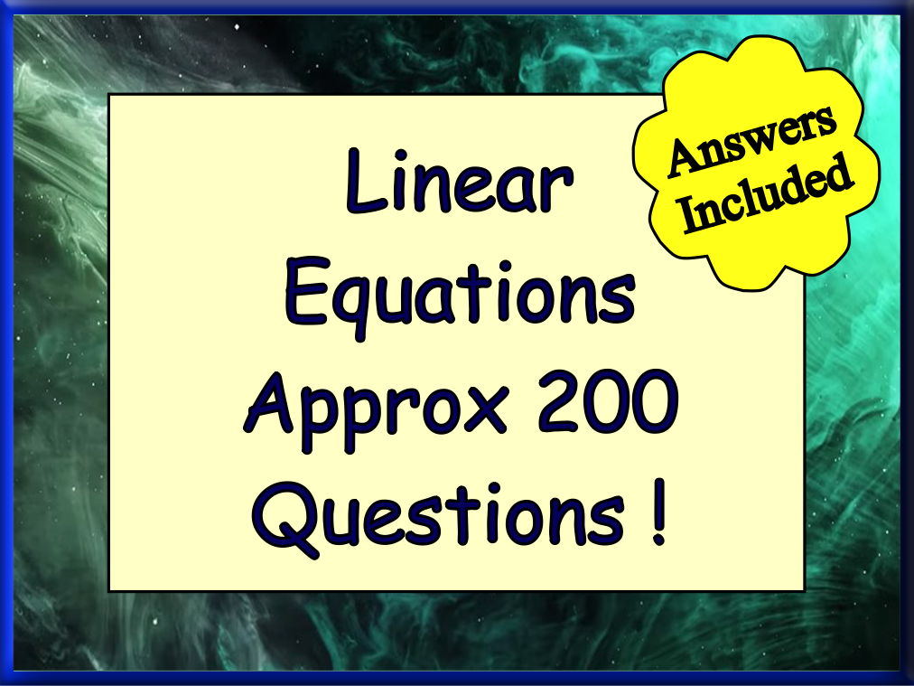 The A - Z of Linear Equations
