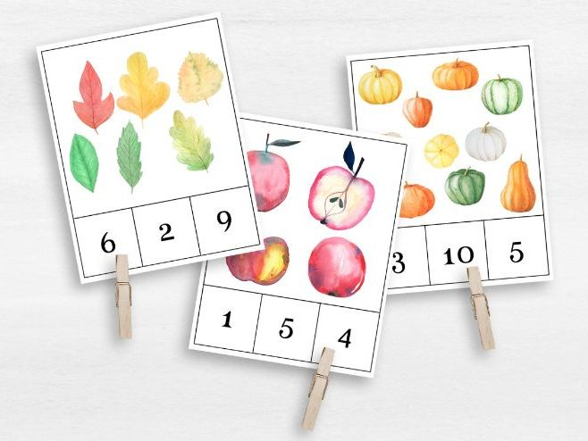 Count and Clip Cards | Montessori Number Work