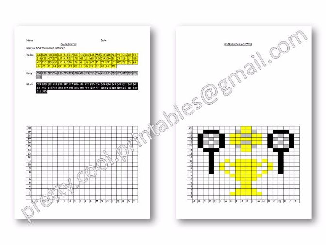 Maths: Hidden Picture Co-ordinates Activity: Wimbledon Tennis