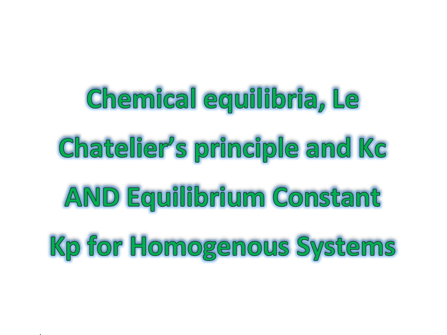 The COMPLETE 3.1.6 and 3.1.10 Chemical Equilibria Revision Resource