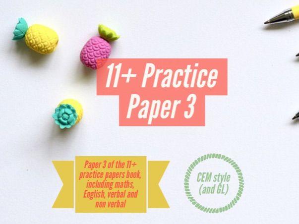 11+ CEM paper 3