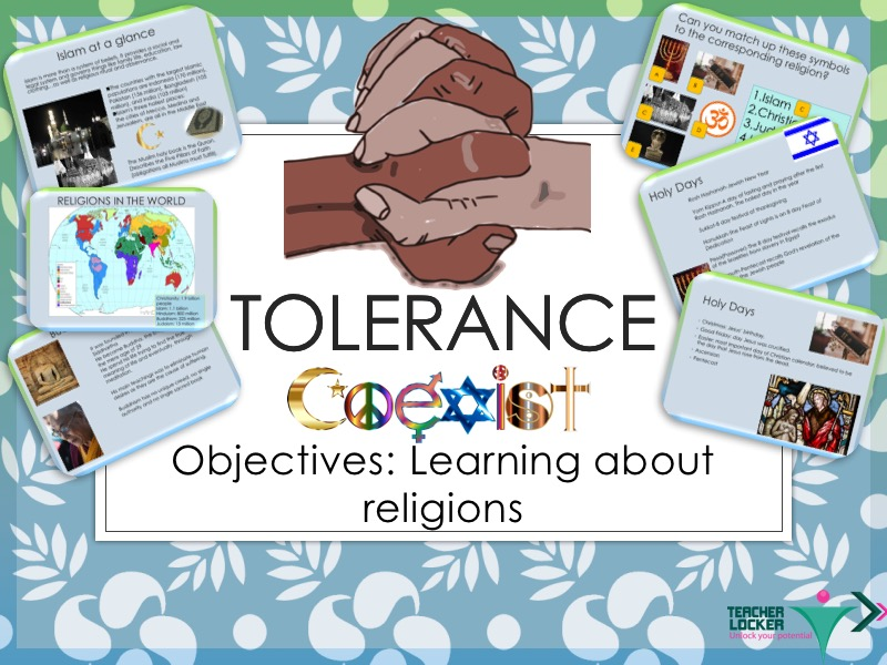 Religion and Tolerance Lesson - Understand your neighbours Faith
