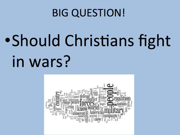 Christian views on war