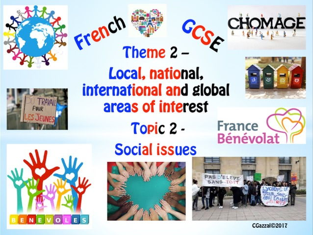 French New GCSE Theme 2 – Local, national, international and global areas Topic 2 - Social Issues