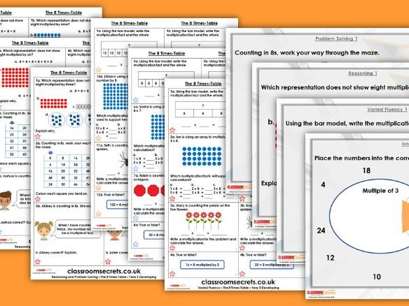 Year 3 The 8 Times Table Autumn Block 3 Step 10 Lesson Pack