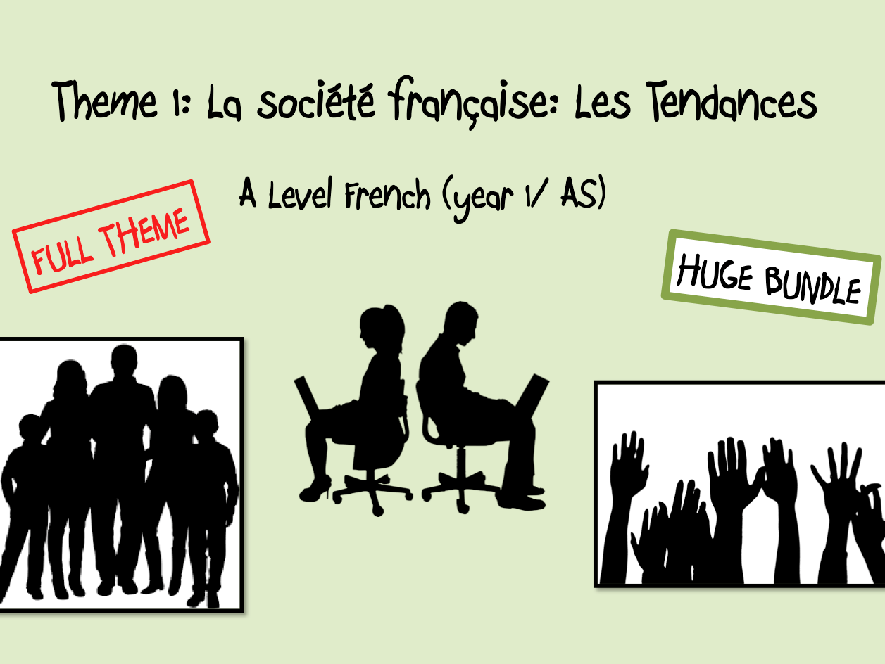 Les Aspects de la société francaise: Les Tendances- FULL THEME- A Level French