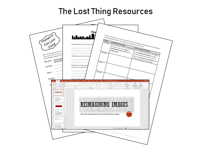 The Lost Thing - Shaun Tan - Worksheets and presentation