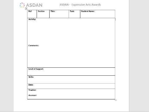 ASDAN Expressive Arts Awards Report