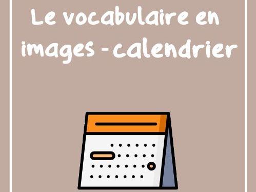 Les mois de l'année et les jours de la semaine (vocabulaire illustré)