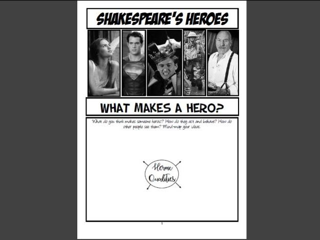 Shakespeare Booklet: Heroes (KS3)